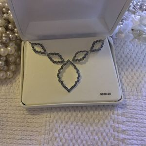 Jewelry - Sparkly! Sterling Marcasite Necklace